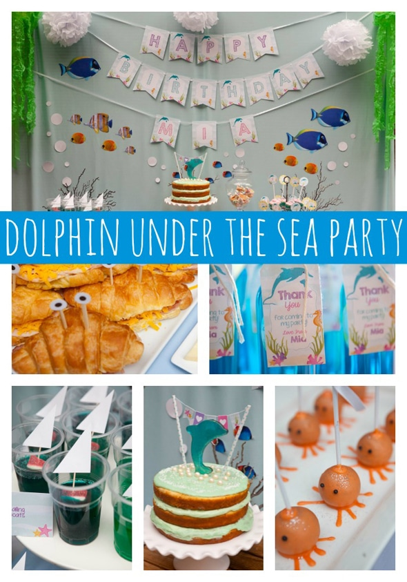 Dolphin Under the Sea Party - Pretty My Party