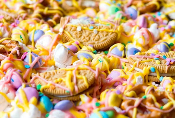 Easter Candy Pizza