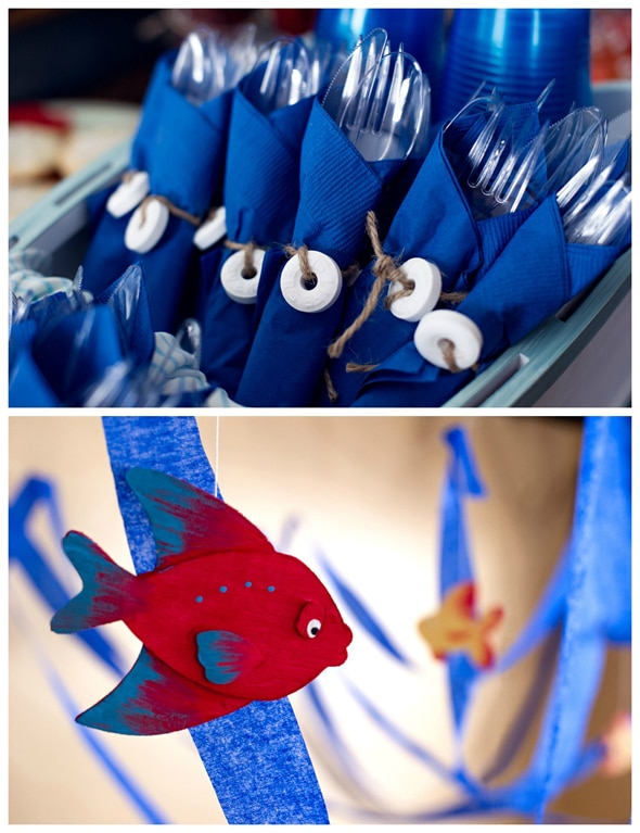 Creative nautical birthday party pretty my party for Anchor decoration party