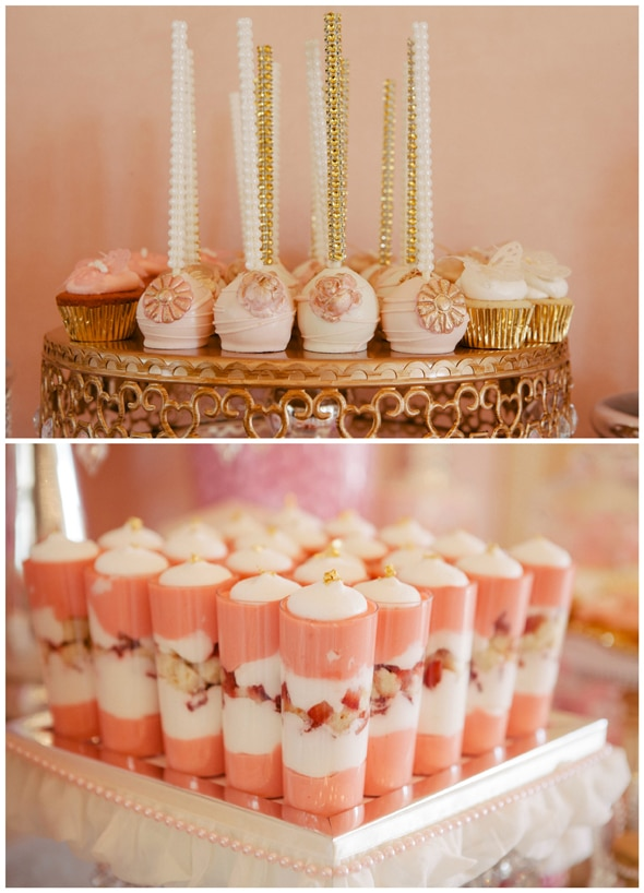 Pink and Gold Baby Shower Desserts