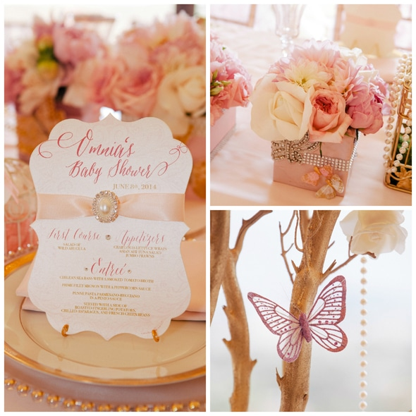 Pink and Gold Baby Shower Decorations