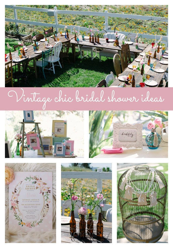 Vintage chic bridal shower pretty my party