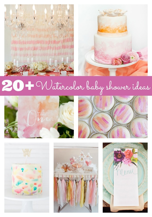 Watercolor Baby Shower Ideas Pretty My Party Party Ideas