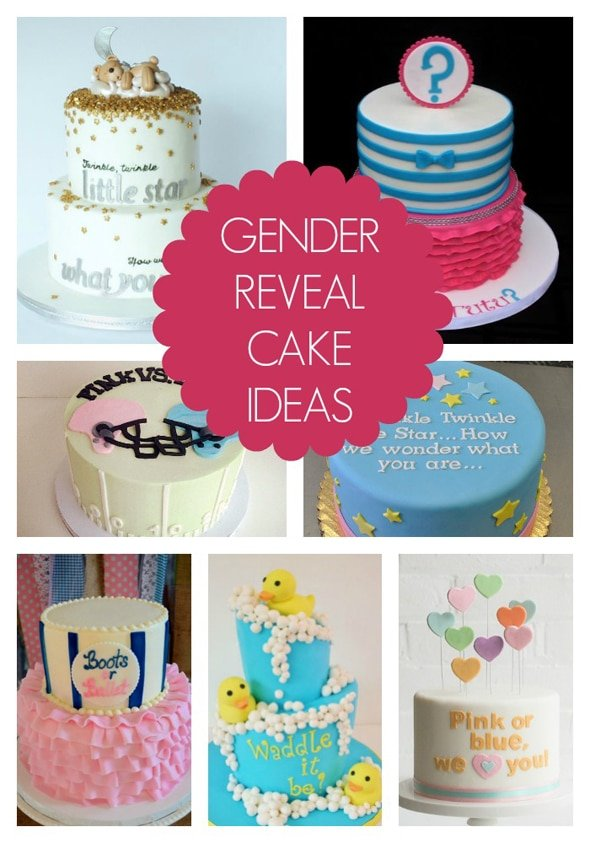 Cake Ideas For Baby Reveal Party : 10 Gender Reveal Cake Ideas - Pretty My Party
