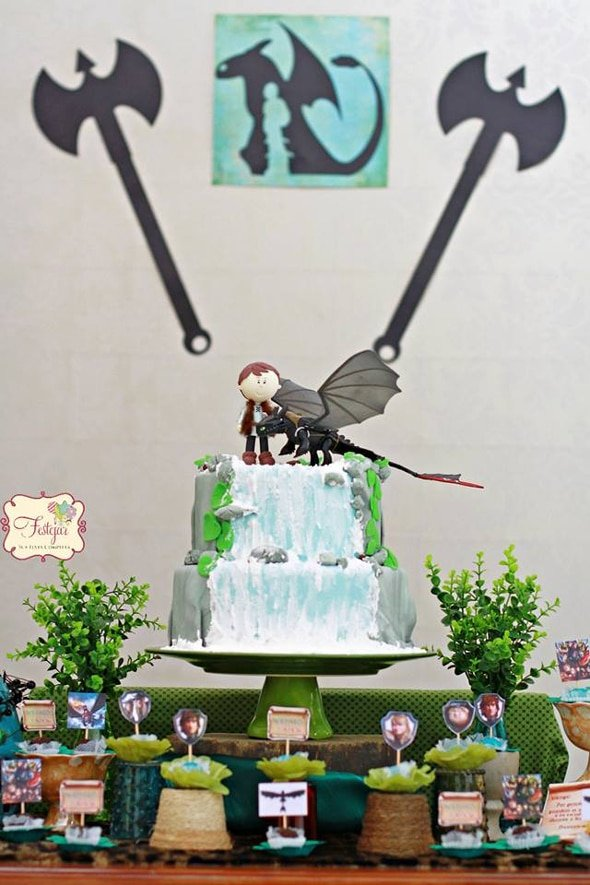 How To Train Your Dragon Party Pretty My Party