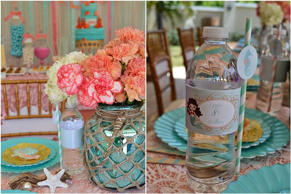 Mermaid Table Settings Mermaid Table Decor