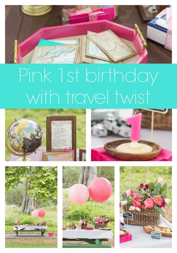 pink-travel-first-birthday-party