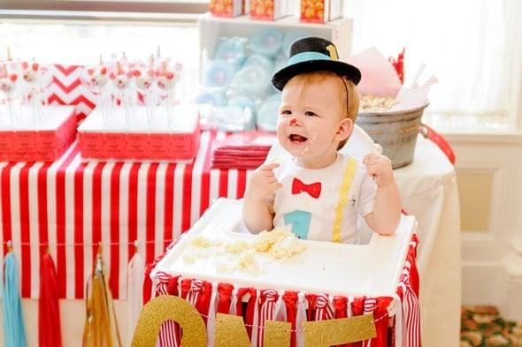 Circus Theme Party Cake Smash