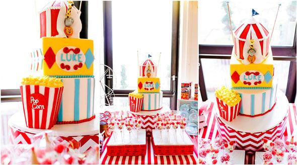 Amazing Circus Theme Cake