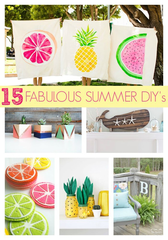15 Fabulous Summer DIY Projects - Pretty My Party