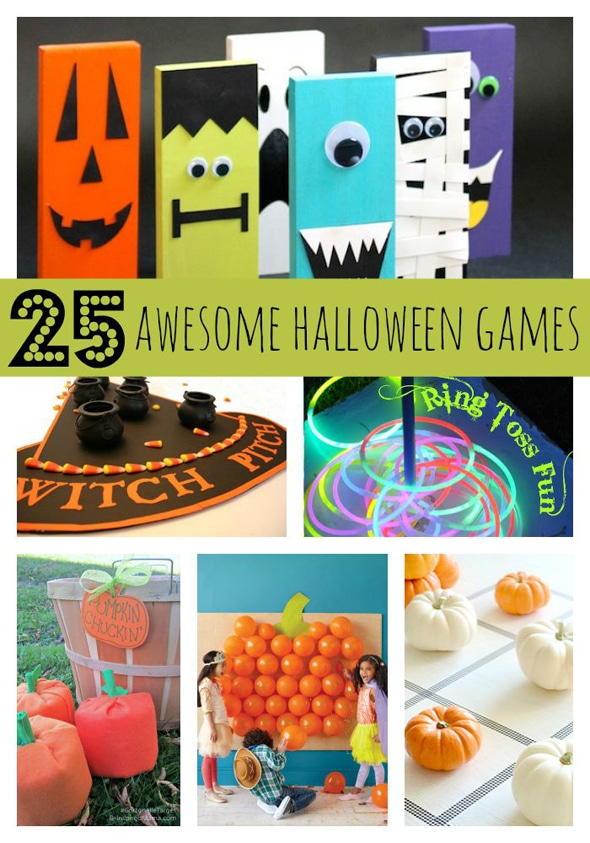 25 Awesome Halloween Party Games via Pretty My Party #halloweengames