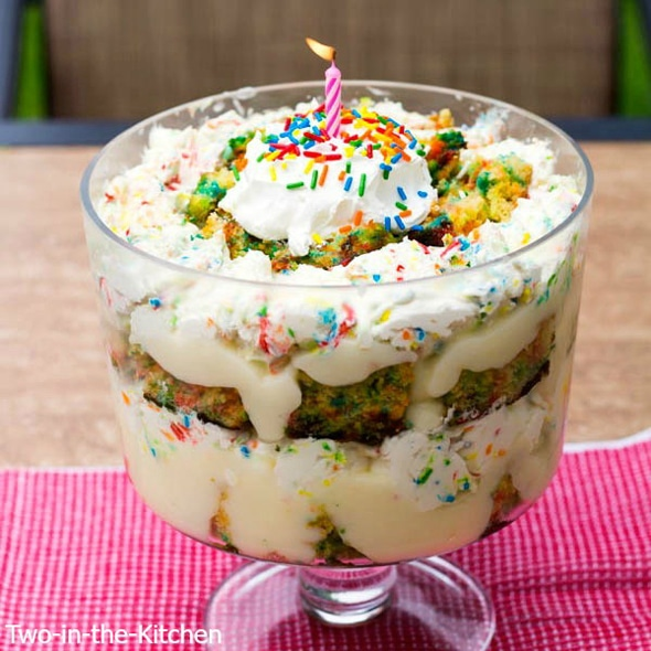 Funfetti Birthday Cake Trifle Recipe Pretty My Party Party Ideas