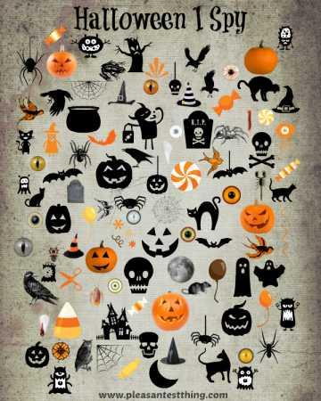 Halloween I Spy Game For Kids