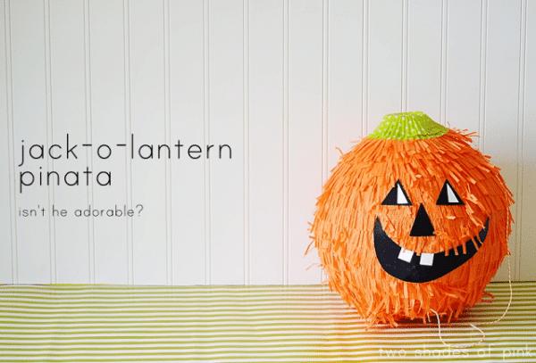 Jack-o-Lantern Piñata Halloween Party Game