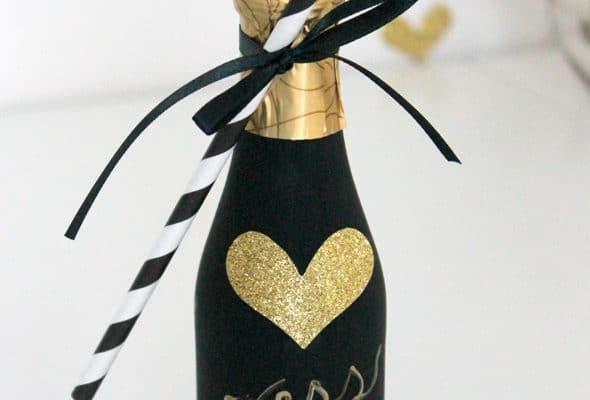 DIY Custom Champagne Favors