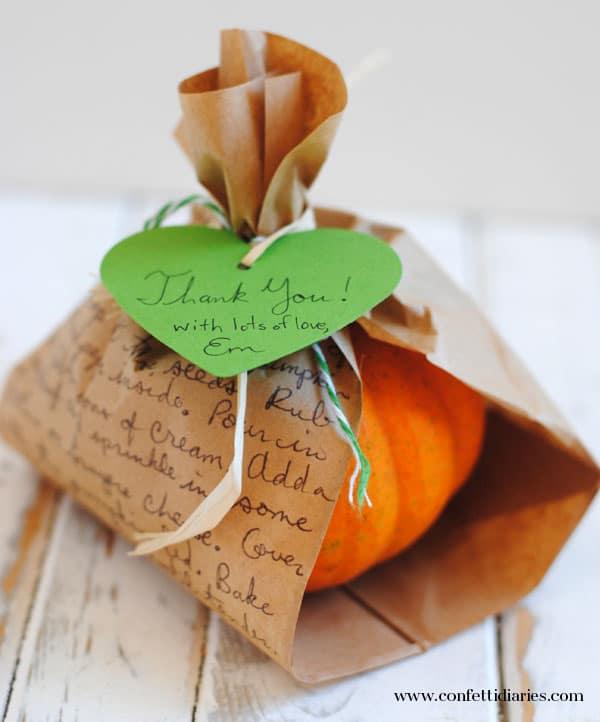 Little Pumpkin Baby Shower Favor   Little Pumpkin Baby Shower Ideas