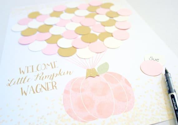 Little Pumpkin Baby Shower Guest Book   Little Pumpkin Baby Shower Ideas