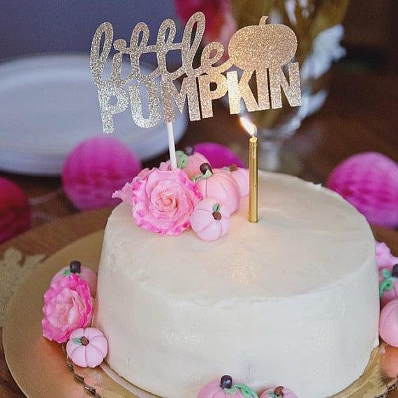 Little Pumpkin Cake Topper   Little Pumpkin Baby Shower Ideas