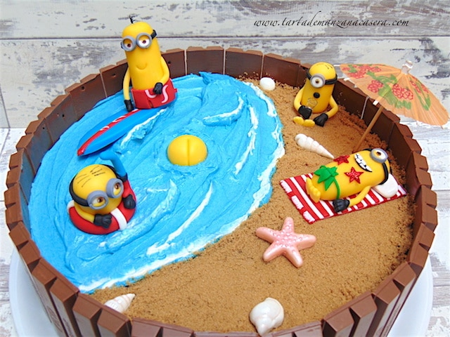 Minions Kit Kat Cake