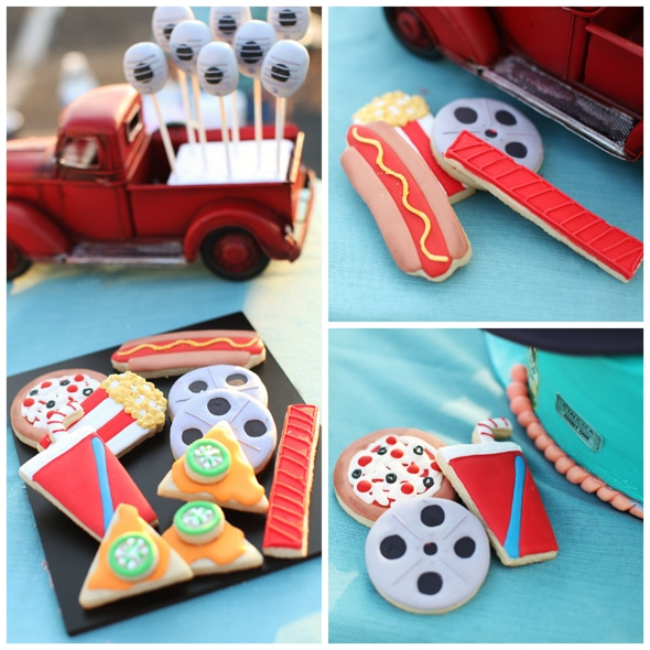 movie-party-theme-cookies