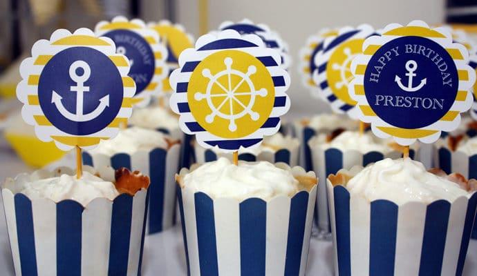 Preppy Boy Nautical Birthday Party
