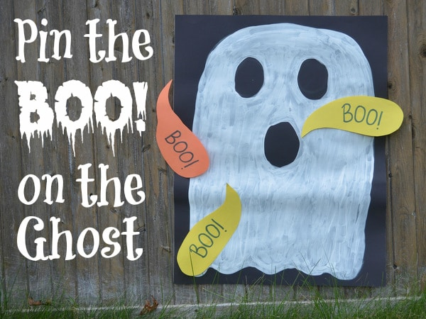 Pin the Boo on the Ghost Halloween Game
