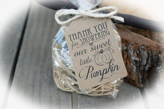 Pumpkin Favor Tags | Little Pumpkin Baby Shower Ideas