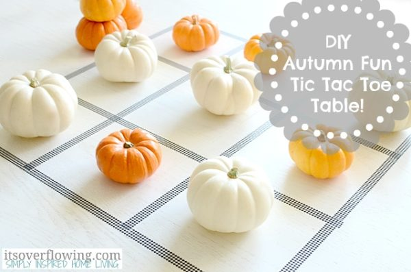 DIY Tic Tac Toe Table With Pumpkins Halloween Game