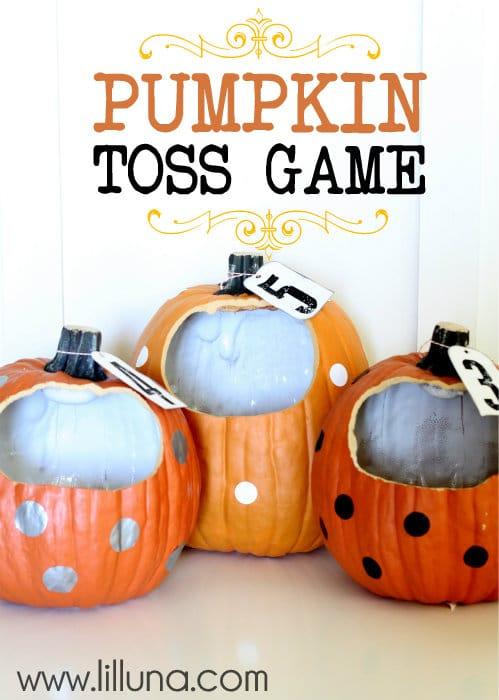 Pumpkin Toss Halloween Game