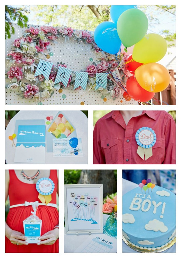 pixar 39 s up themed baby shower ideas pretty my party