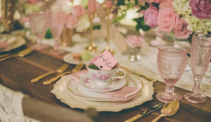 Vintage Chic Tea Party Wedding