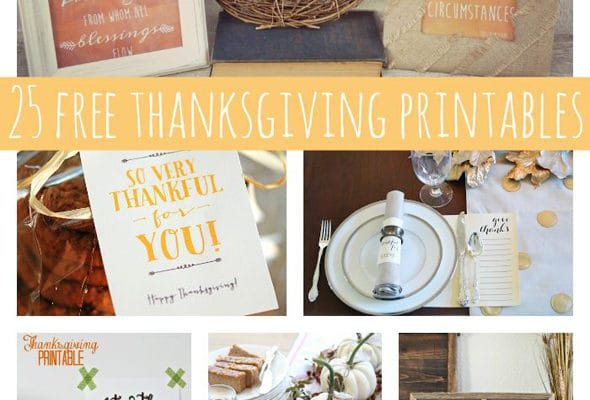 25 Fabulously Free Thanksgiving Printables