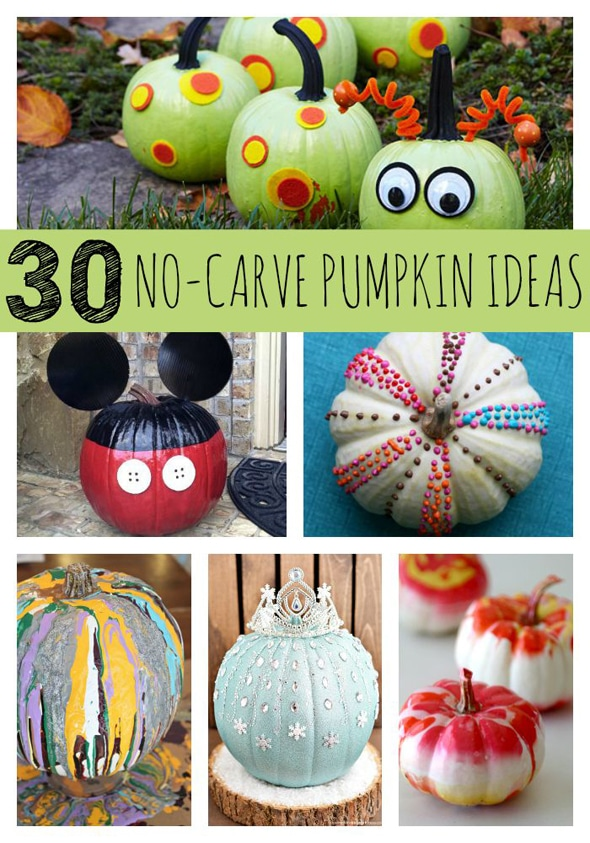 30 Awesome No Carve Pumpkin Ideas Pretty My Party