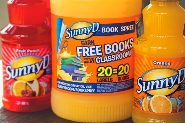 Purchase SunnyD to Earn Books at School