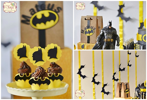 Batman Themed Birthday Party Pretty My Party