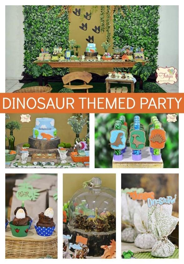 Dinosaur Boy Birthday Party Pretty My Party