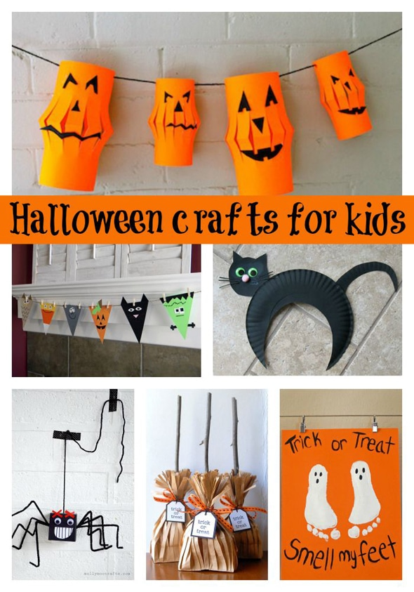 30 Halloween Craft Ideas For Kids via Pretty My Party