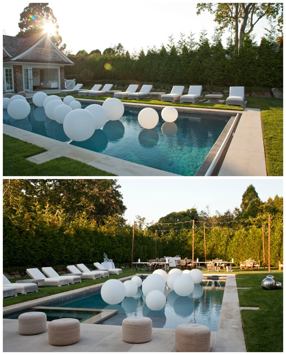 Lavish outdoor birthday party pretty my party for Garden pool party 2015