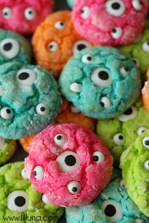 Monster Birthday Party Cookies