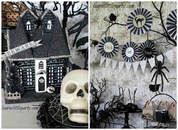 black-white-halloween-dessert-table-ideas