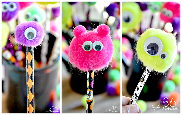 DIY Monster Pencils - Monster Birthday Party Ideas
