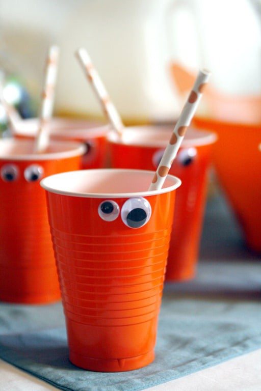 Easy DIY Monster Cups - Monster Theme Party Ideas