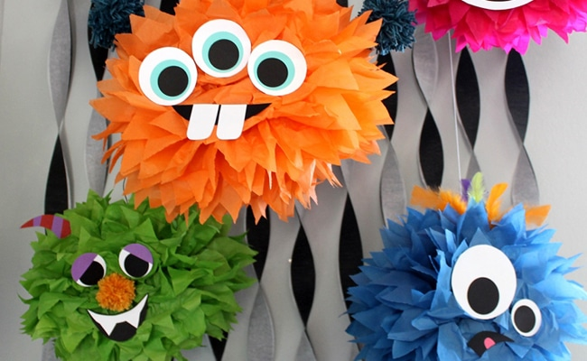 Diy halloween decorations for kids - 30 Monster Halloween Party Ideas Pretty My Party