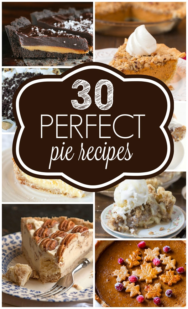 30 Perfect Pie Recipes for the Holidays on Pretty My Party