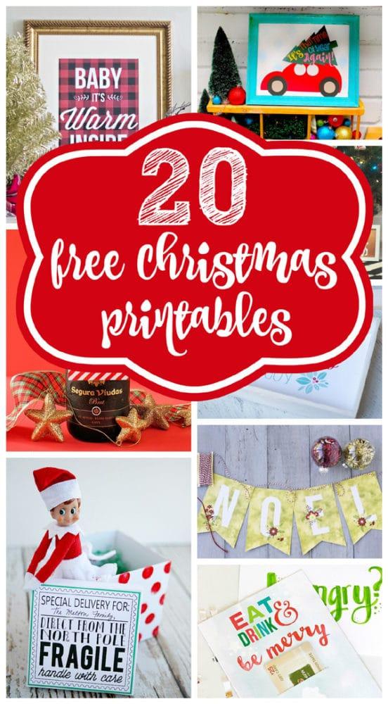 20 free christmas printables - Holiday Printables Free