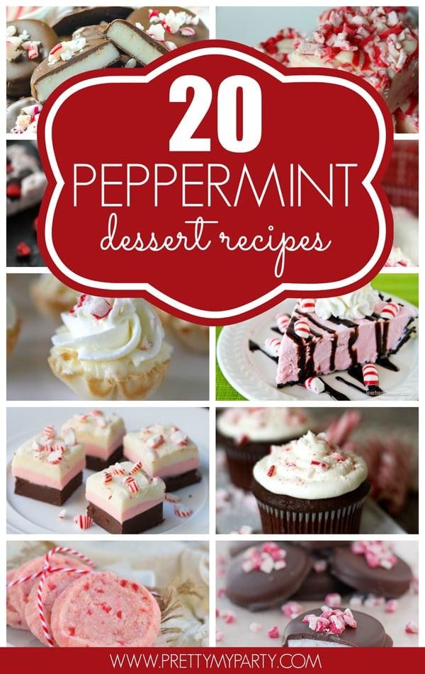 20 Peppermint Dessert Recipes via Pretty My Party