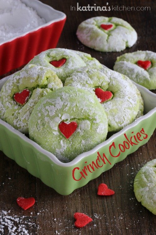 Grinch Cookies - Christmas Cookies