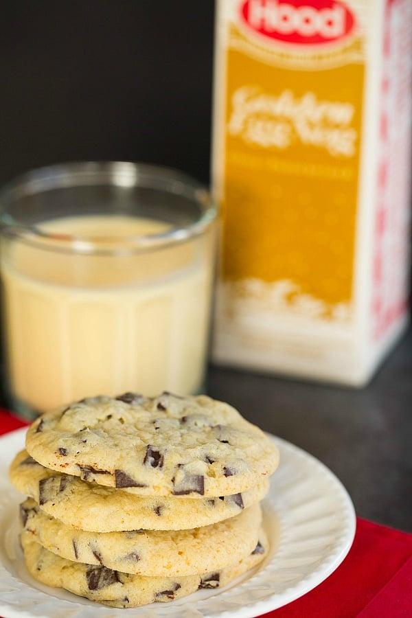 Eggnog Chocolate Chunk Cookies - Eggnog Recipe