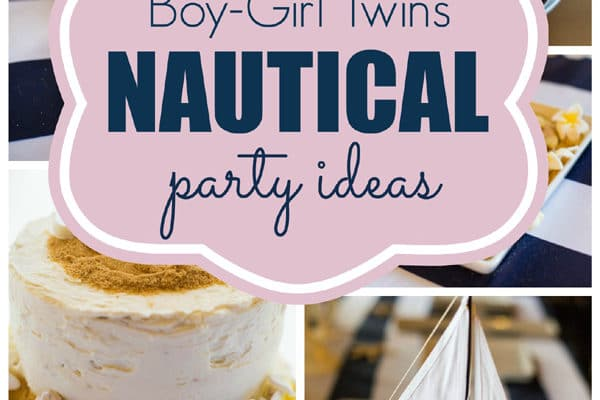Twins Nautical Birthday Party
