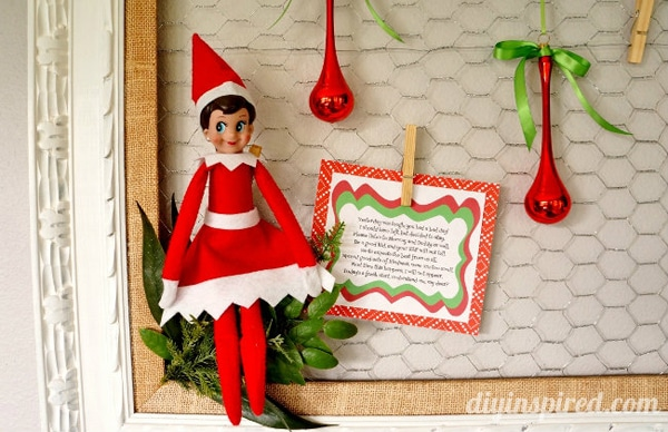 Free Elf on the Shelf Bad Day Poem Printable